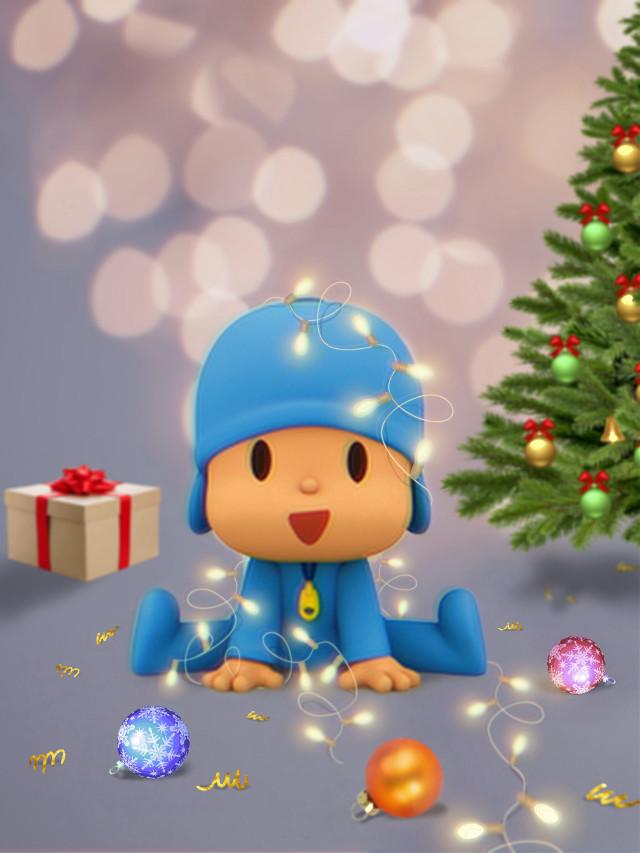 #freetoedit #pocoyo #christmasornaments  #christmaslights #christmastree #magicbrushes #madewithpicsart #stickers #remixit