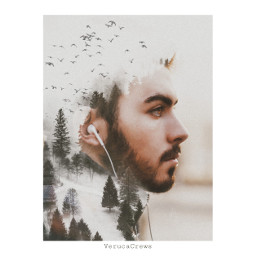 freetoedit portrait doubleexposure nature landscape