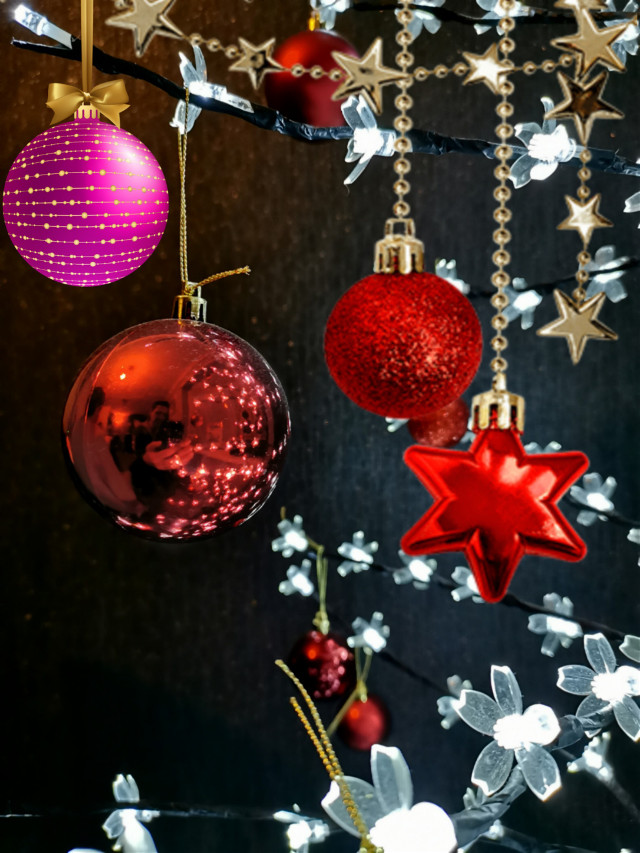 Feeling a bit more like christmas #baubles  #freetoedit #christmasdecoration #stickers #colourful