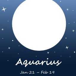 zodiac aquarius freetoedit