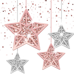 freetoedit snowflakes christmas star rosegold