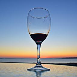 beach wine sunset wineglass redwine freetoedit pcsinglestilllife singlestilllife
