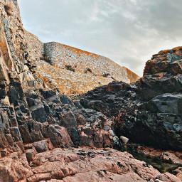 freetoedit rock castle old sea