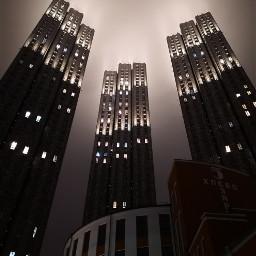 nightshot architecture skysraper nightlife moscow freetoedit