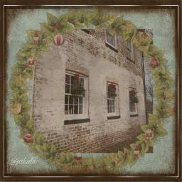aesthetic christmas winter wreath nj freetoedit