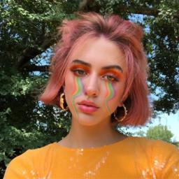 freetoeditremix makeup colorhair raimbowmakeup freetoedit