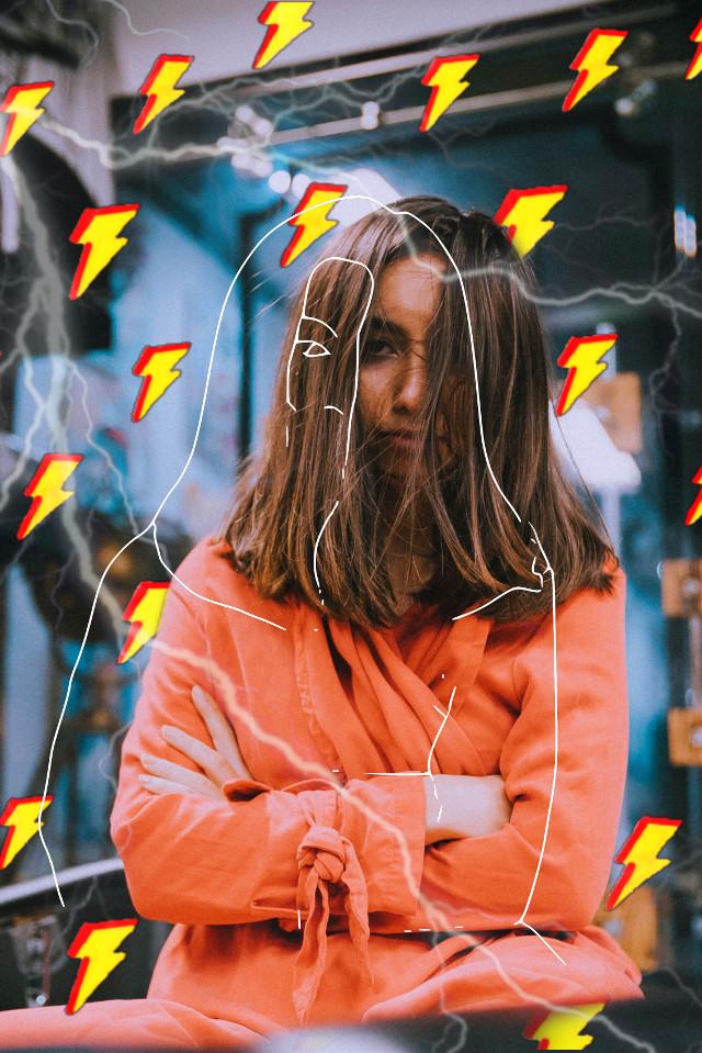 #freetoedit #lightning #emoji #emojibackgroun #sketch #sketcheffect