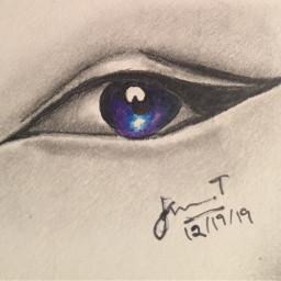 interestingdrawing markers eyeliner galaxy irisdrawing