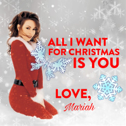 freetoedit mariahcarey christmas alliwantforchristmasis