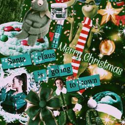 freetoedit greenaesthetic greenchristmas christmas christmasaesthetic