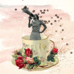 freetoedit teacup happyfriday vintage female