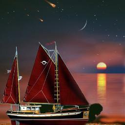 freetoedit ircmystical mystical boat sea