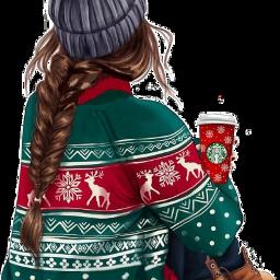 uglychristmassweater pullover christmas girl freetoedit scuglychristmassweater