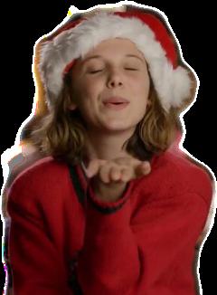 christmas milliebobbybrown strangerthings strangerthingschristmas milliebobbybrownchristmas freetoedit