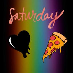 freetoedit pizza blackheart🖤 rainbow blackheart