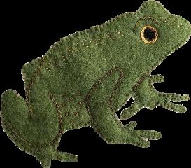 frog froggy embroidery stitch cottagecore freetoedit