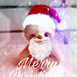 freetoedit sloth christmas christmassloth merrychristmas