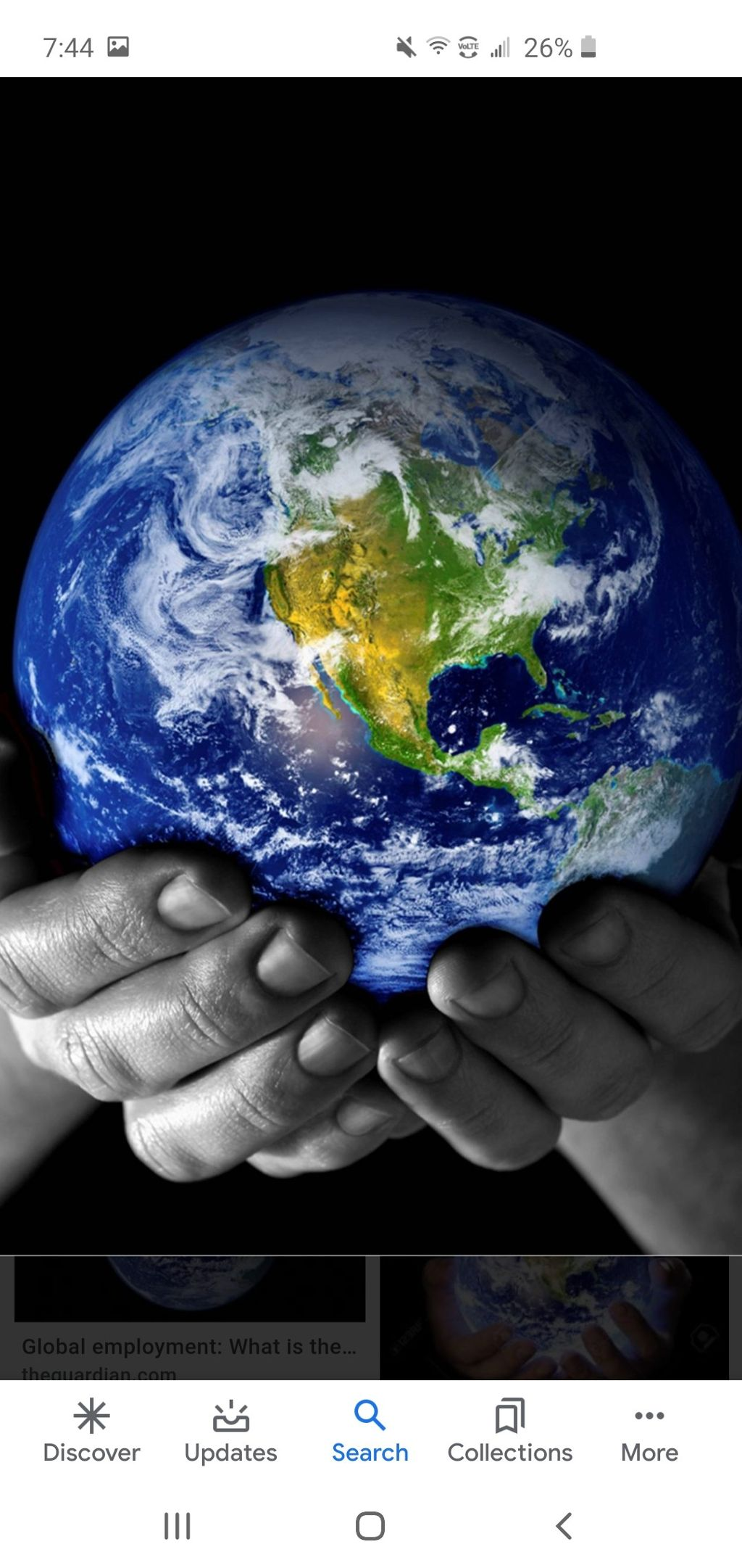 #Our earth rests in our hands.....