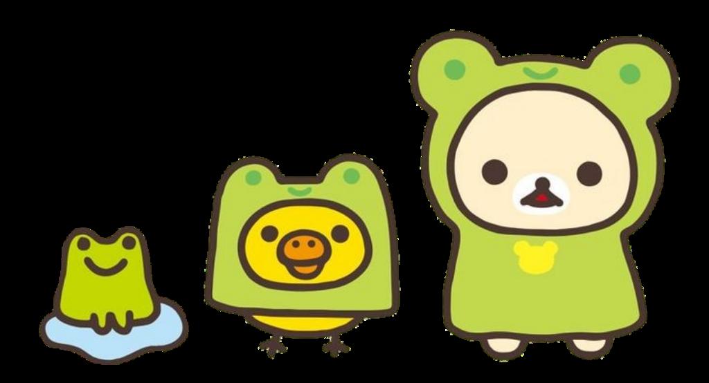 #rilakkuma #frog #green #bear #bird #frog #cute #aesthetic #kawaii