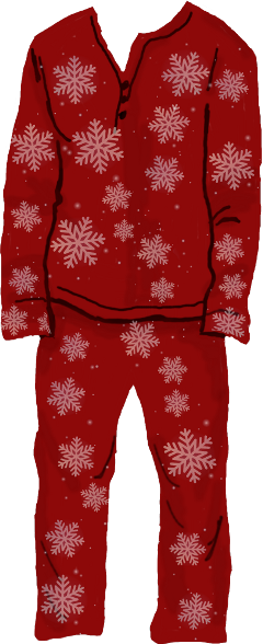 christmas pajamas mydrawing snowflakebrush picsart freetoedit
