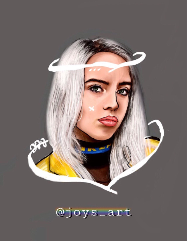 Billie Outline ♡ #billieeilish #byme #joysart #outline #likeit? #picsart. #freetoedit