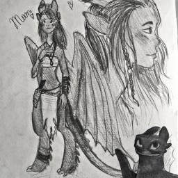 dragon drawing traditional idk