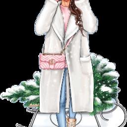 sledge winter christmas girl freetoedit scsleigh sleigh
