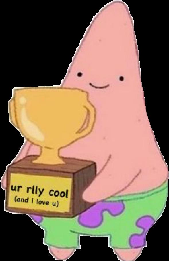 #spongebob #patrick #love #meme #trophy #kawaii #cute #funny #iloveyou #freetoedit