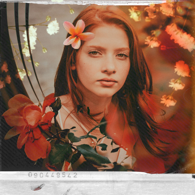 #freetoedit #model #edit #flowers #analog #retro