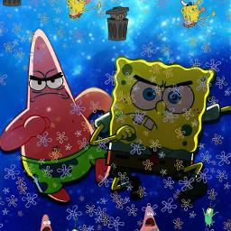 in batman spongebob freetoedit