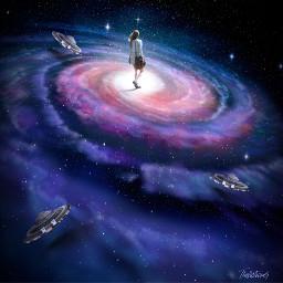 surreal ufo galaxy interesting around freetoedit