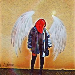 freetoedit angelic redhairgirl