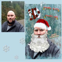 freetoedit christmasstickers santaphoto christmastime christmascard