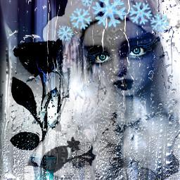 freetoedit doll snowcrown rose window