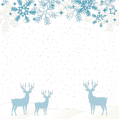 ftestickers winter snow deer silhouette freetoedit