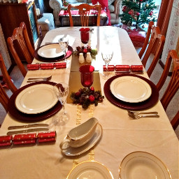 our xmas table decoration dinner
