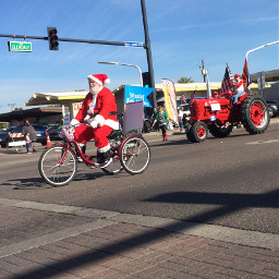 santa bikeride glendale arizona christmasspirit