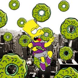 freetoedit thesimpsons bartsimpson bart donut