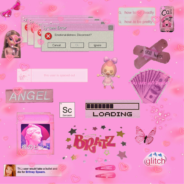 #freetoedit #2000s #aesthetic #pink #y2k #bratz #glitcheffect #background