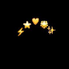 aesthetic yellow heart stars bright freetoedit