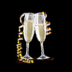 champagne newyear happynewyear party freetoedit