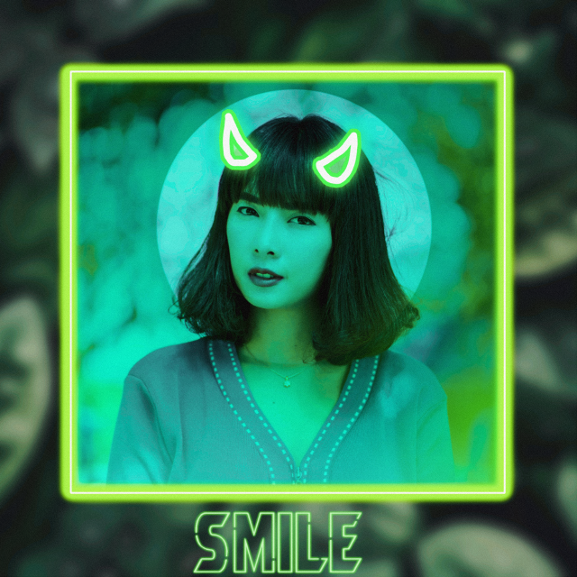#freetoedit Another neon edit 💚 #sticker #circle #frame #frames #neon #gradient #ombre #beautiful #background #backgrounds #green #blue #aesthetic #aesthetics #greenaesthetic #model #asian #pretty #replay #replays #cute