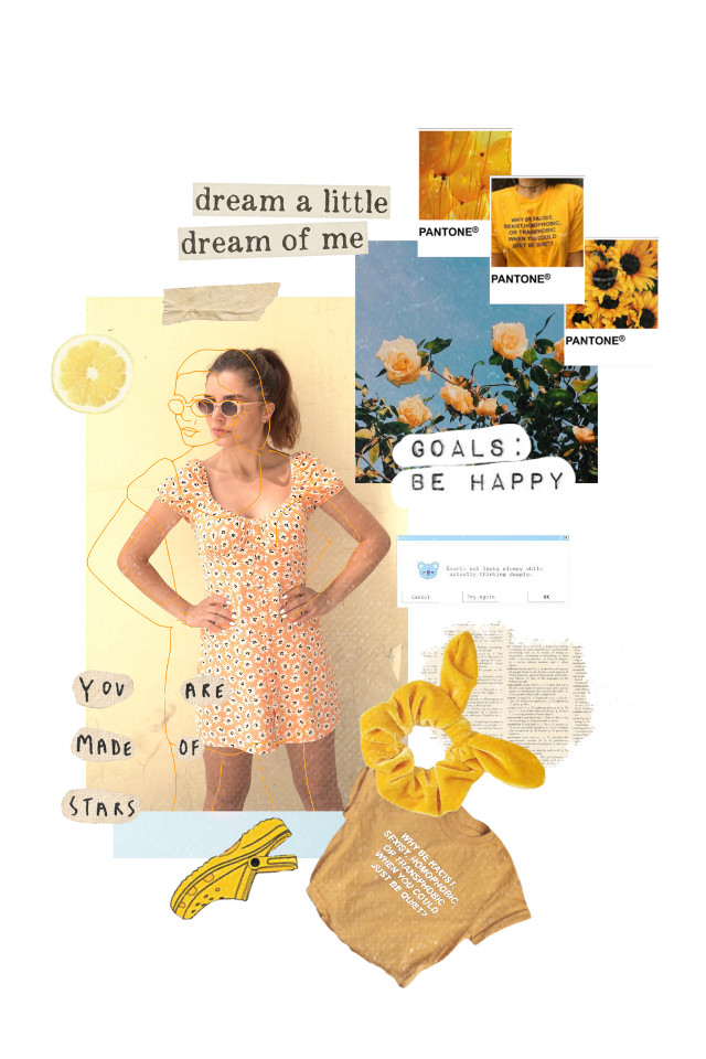 #moodboard #girl #collage #inspiration #pantone #yellow #goals #2020moodboards #flowers #sketcheffect  #freetoedit