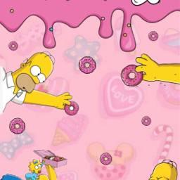 omero omerosimpson pink donut fondo freetoedit