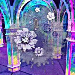 freetoedit remixed flowers neon hueeffect