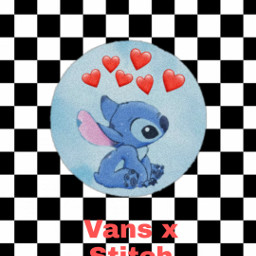 vans blackandwhite stitch collab create freetoedit