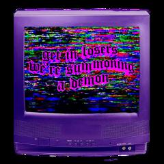 freetoedit tv aesthetic static sticker