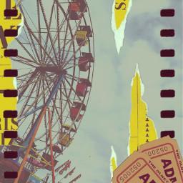 freetoedit carnival vintage film ticket