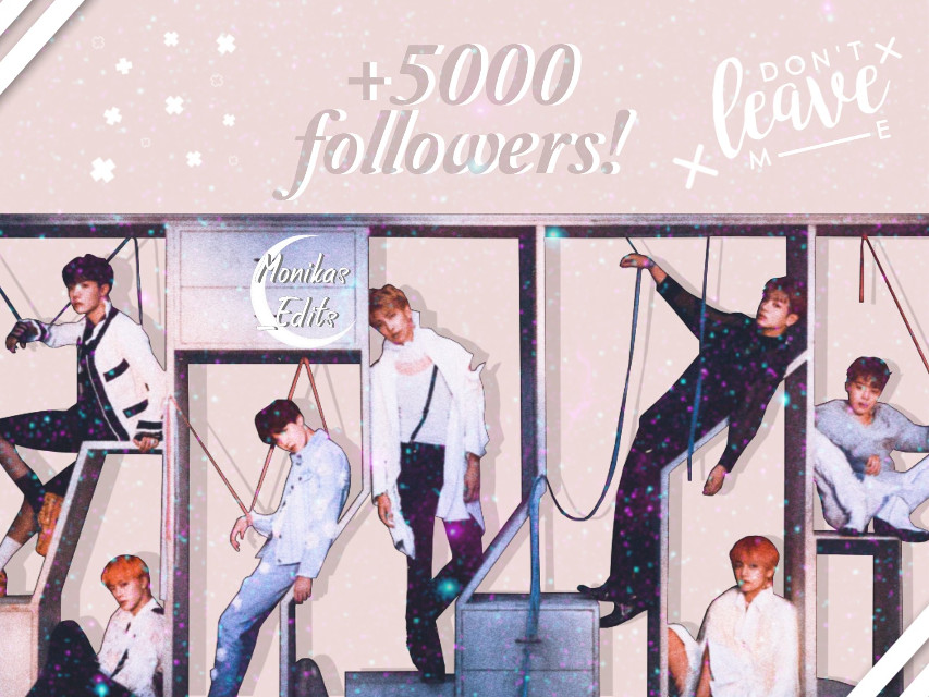 ||Read me|| You always surprise me my monivelys! Just one month ago I had only 3000 followers and now we're more than 5000!!! I am really speechless!! Thank you so much for the support the love!   ×Song×: Don't leave me by BTS  ↳Tags✤ #bts #edit #thankyou #kpop #rosa