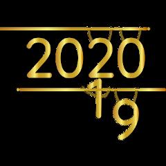 happynewyear 2020 gold funny freetoedit